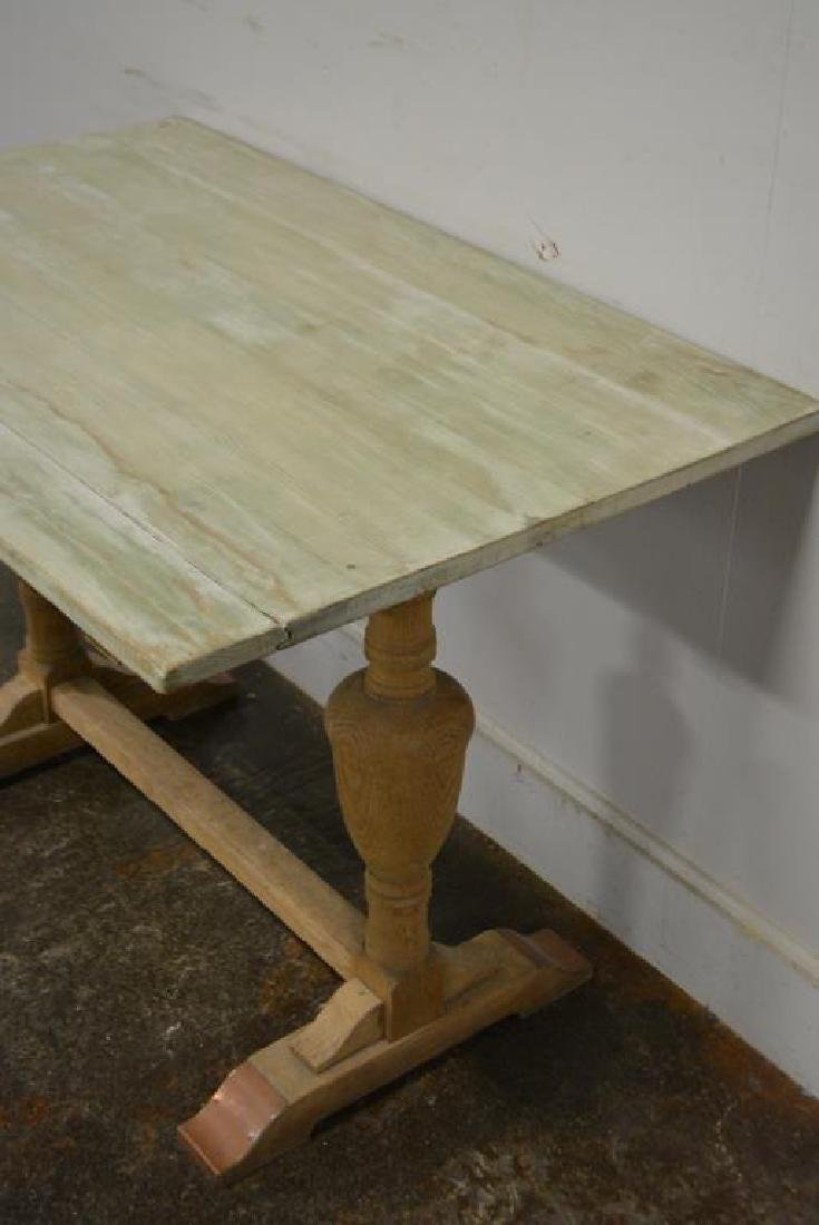 "French Trestle Table 29 1/4""H,   43 1/4""L,   27 1/2""W - 3"