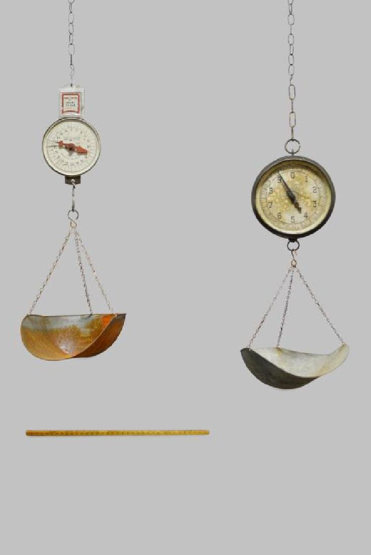 2pc. Lot of General Store Hanging Scales