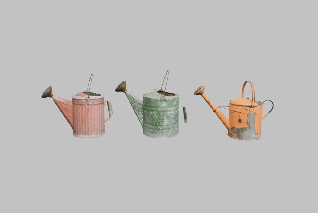 "3pc. Lot of Watering Cans 12 1/4""H     /     13 1/2""H"