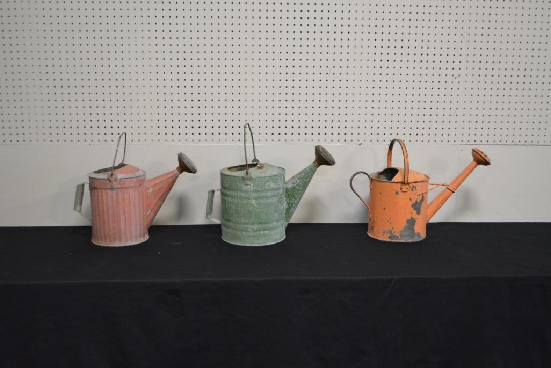 "3pc. Lot of Watering Cans 12 1/4""H     /     13 1/2""H - 2"