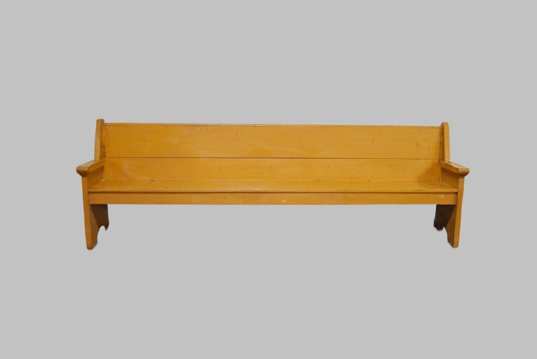 """Painted Country Store Bench 32 1/2""""H,   104""""L,   19"""
