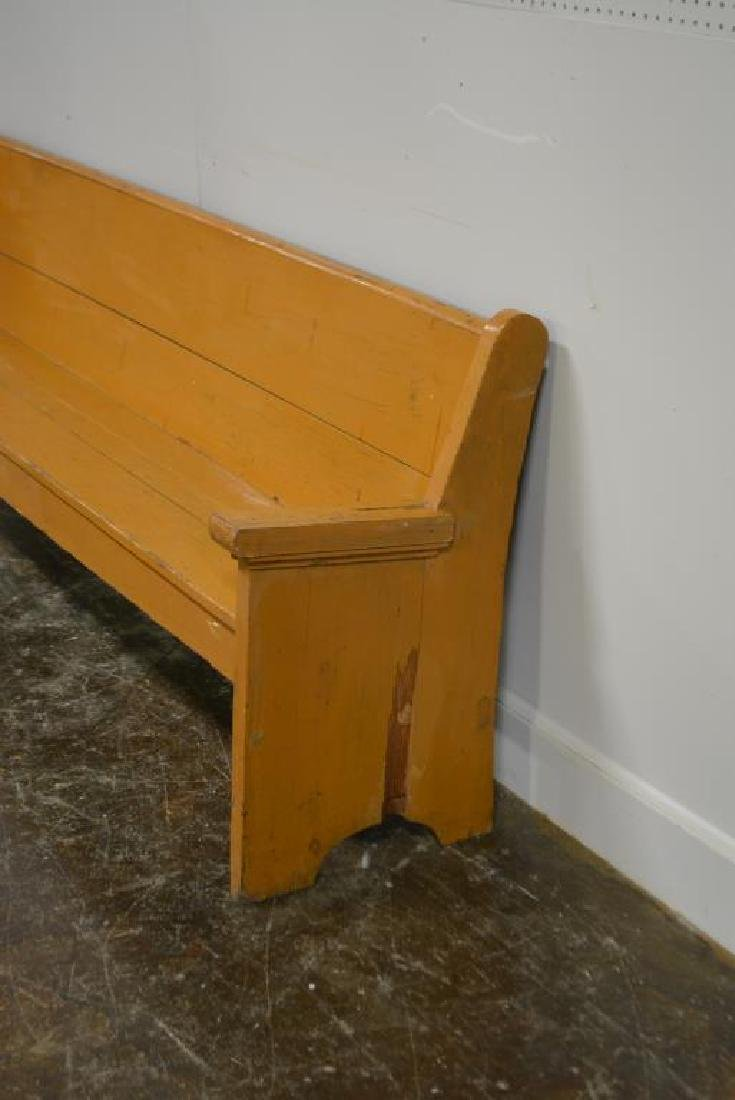 """Painted Country Store Bench 32 1/2""""H,   104""""L,   19 - 2"""