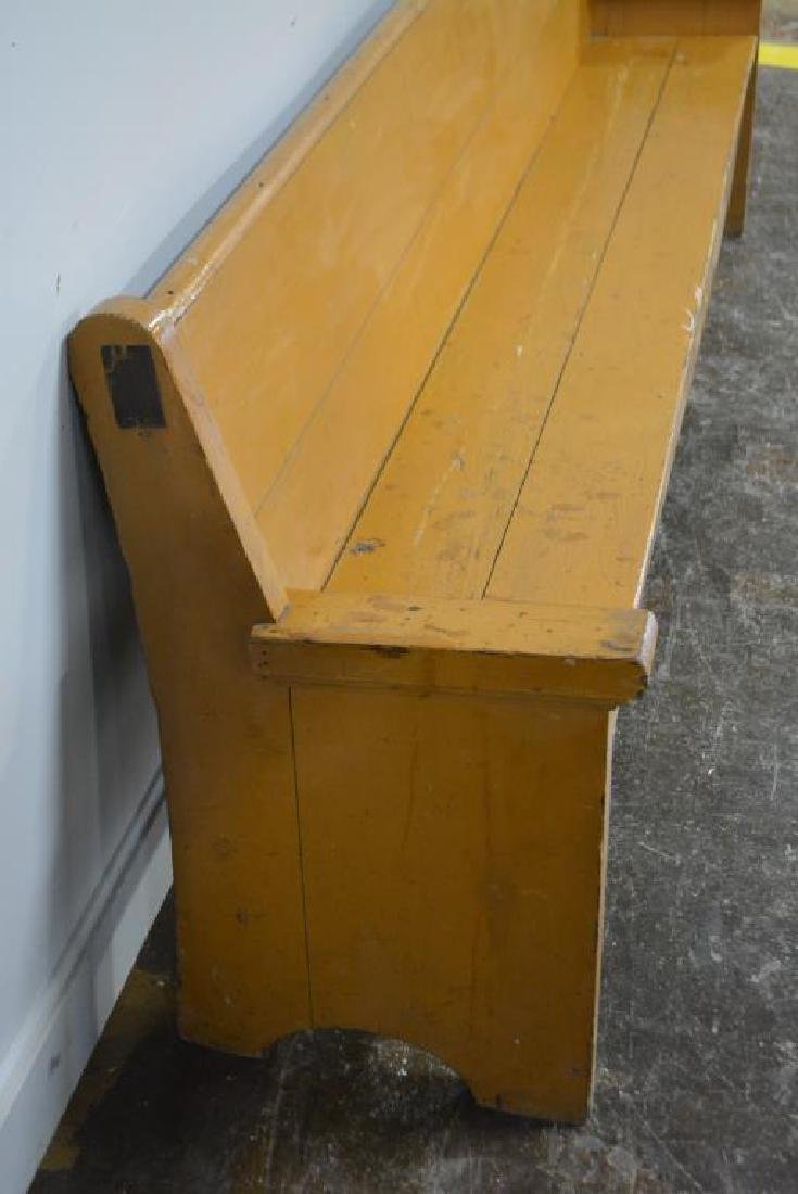 """Painted Country Store Bench 32 1/2""""H,   104""""L,   19 - 3"""