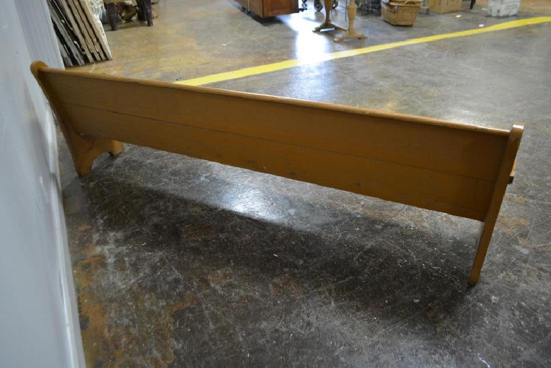 """Painted Country Store Bench 32 1/2""""H,   104""""L,   19 - 4"""