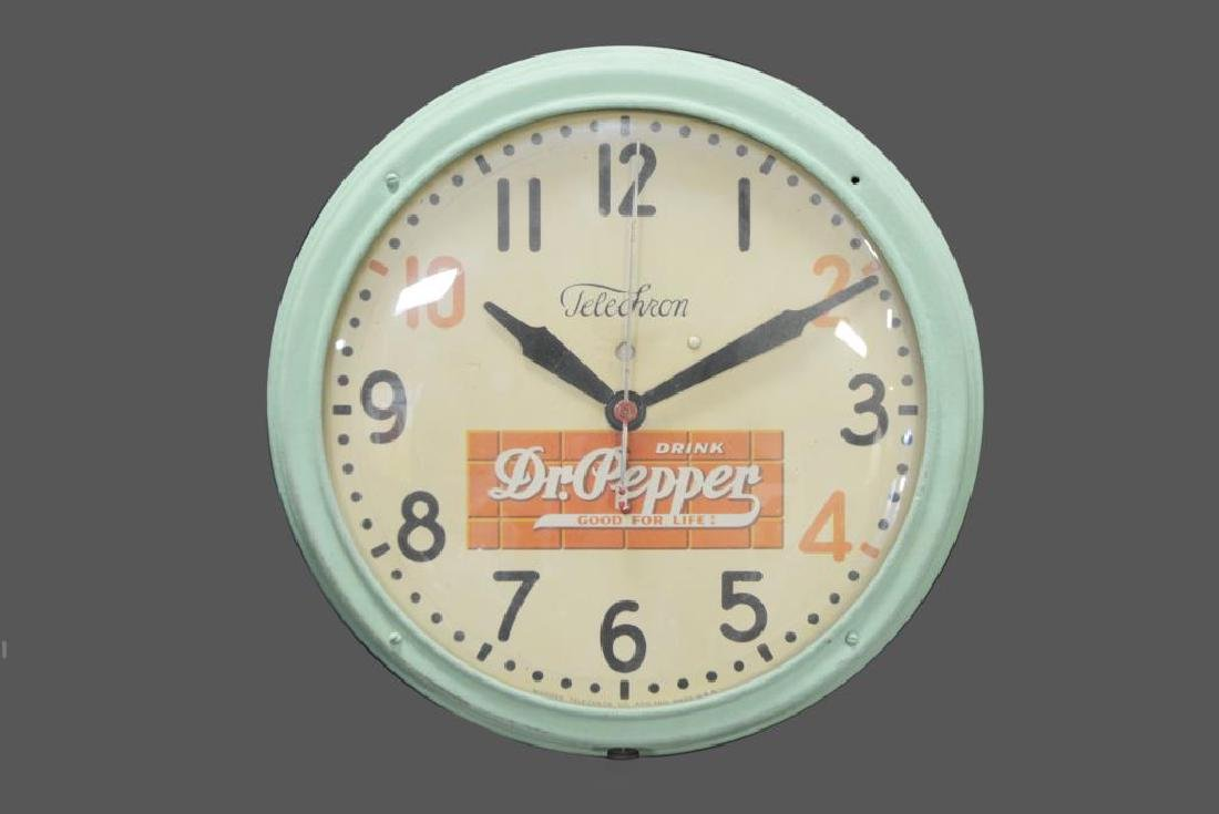 "Dr. Pepper Clock 14 1/2"" diam."