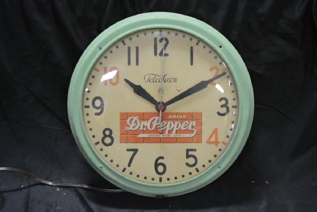 "Dr. Pepper Clock 14 1/2"" diam. - 2"