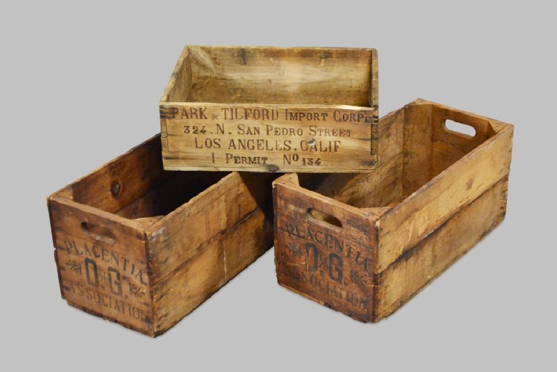 """3pc. Lot of Advertising Crates (2) -  12""""H,   26""""L,"""