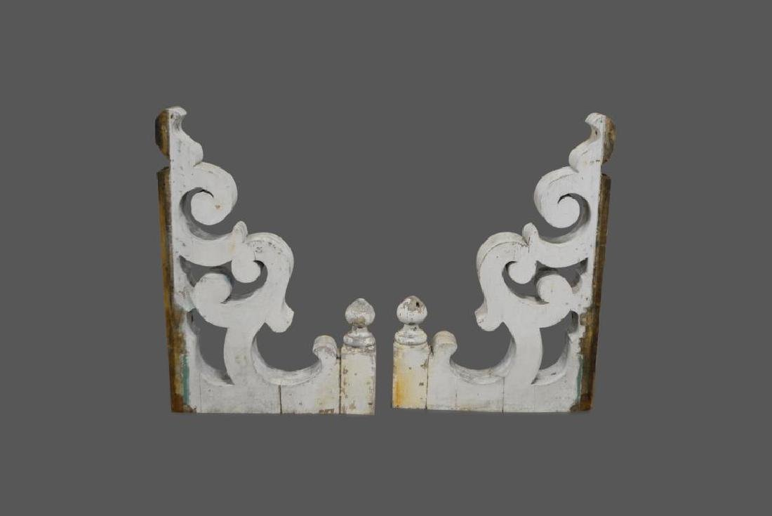 "Painted Architectural Corbel X-2 48 1/2""  x   32 3/4"""