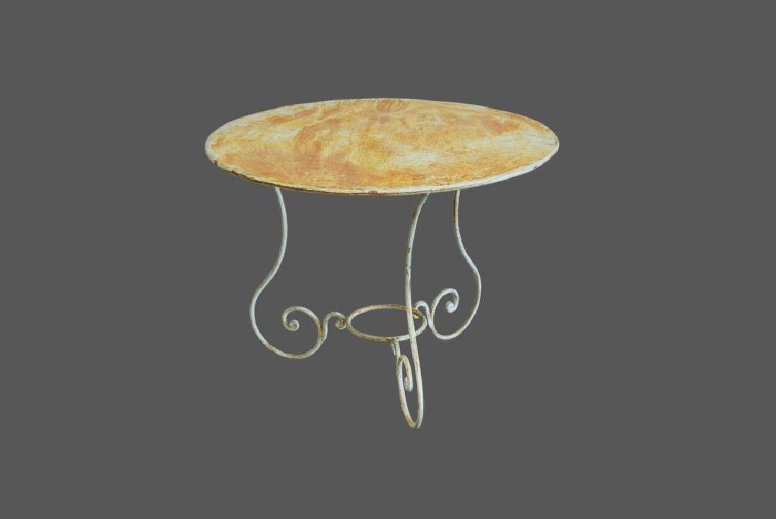 "French Metal Bistro Table 30 1/2""H,   39 1/2"" diam."