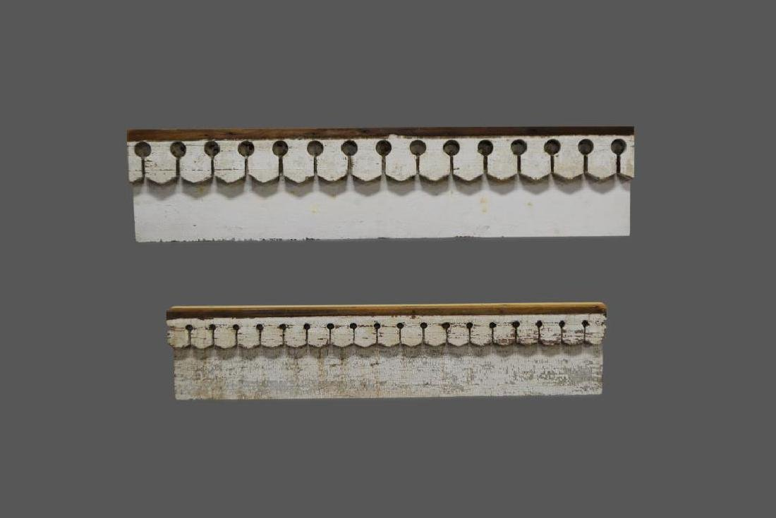 """2pc. Lot of Painted Architectural Headers 12 1/2""""  x"""