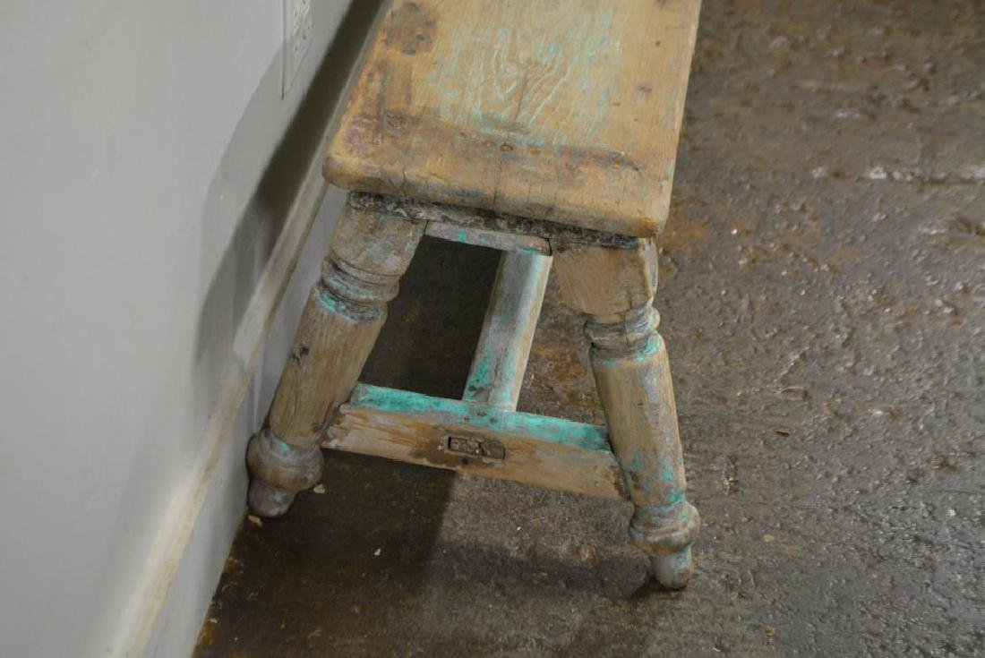 "Turned Leg Painted Bench X-2 17""H,   78 1/4""L,   18""W - 2"