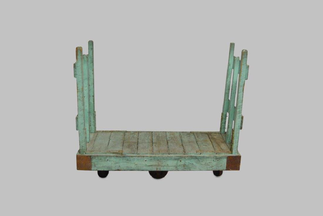 """Painted Industrial Warehouse Cart 46 1/4""""H,   56""""L,"""