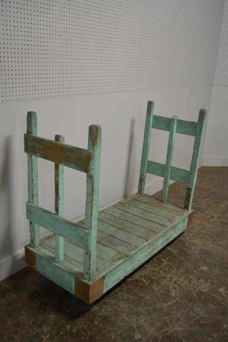 "Painted Industrial Warehouse Cart 46 1/4""H,   56""L, - 2"