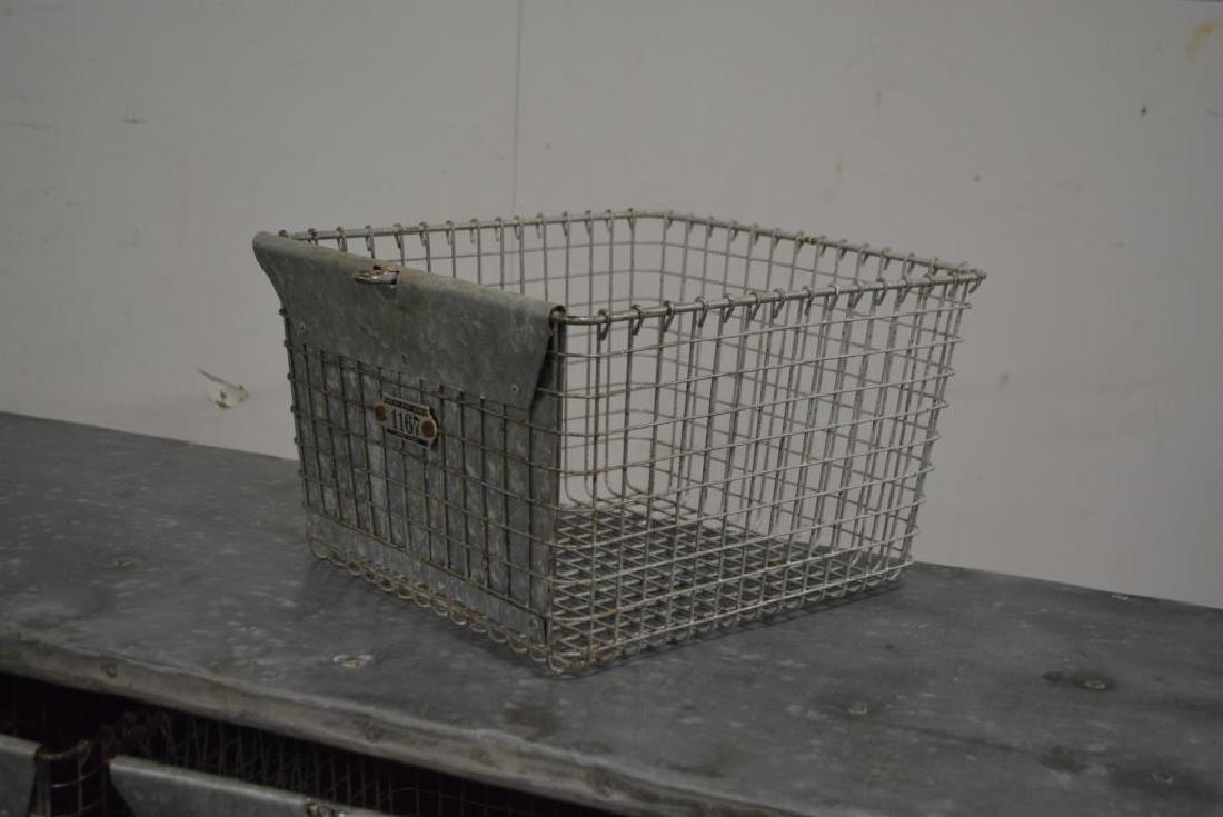 "Industrial Locker Basket Unit w/ Zinc Top 33 1/4""H, - 5"