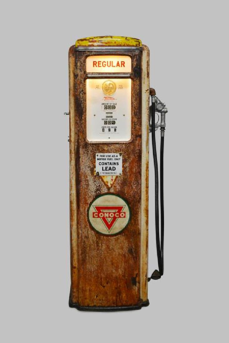 "Lighted Gas Pump 75 1/4""H,   28 1/2""  x   17"""