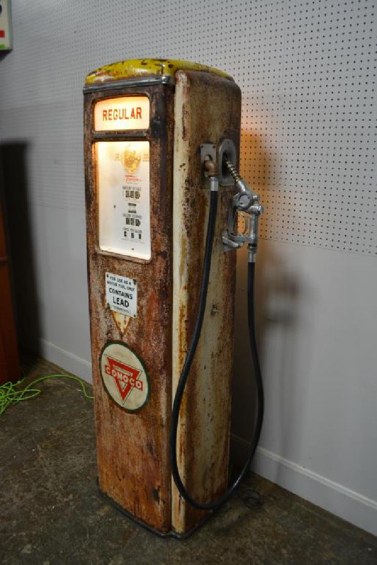"Lighted Gas Pump 75 1/4""H,   28 1/2""  x   17"" - 3"