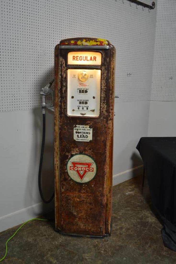 "Lighted Gas Pump 75 1/4""H,   28 1/2""  x   17"" - 4"