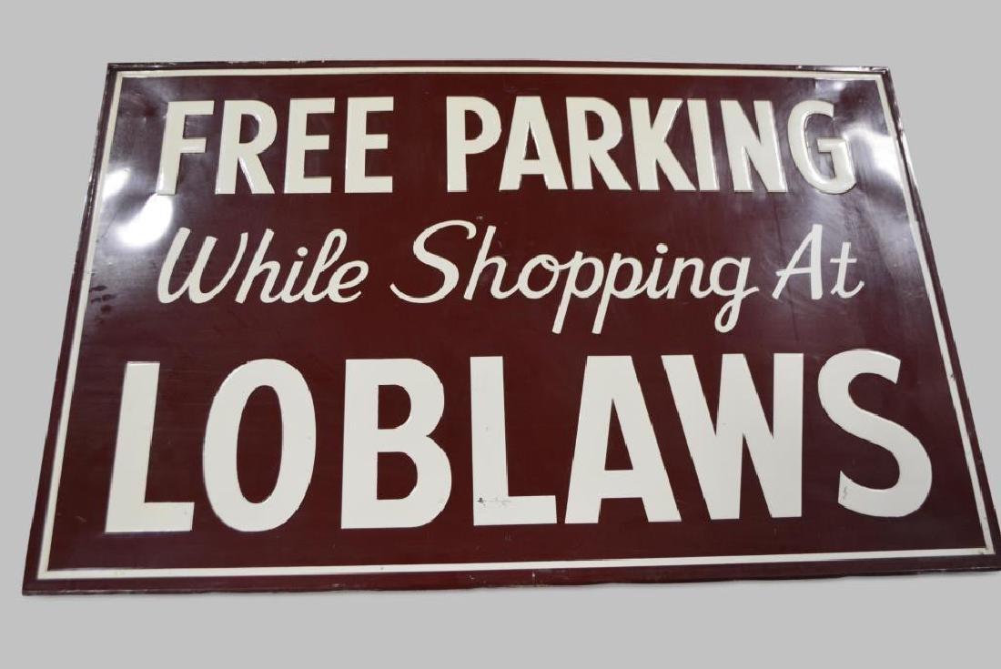 """Free Parking Sign   -  metal 45 3/4""""  x   69 3/4"""""""