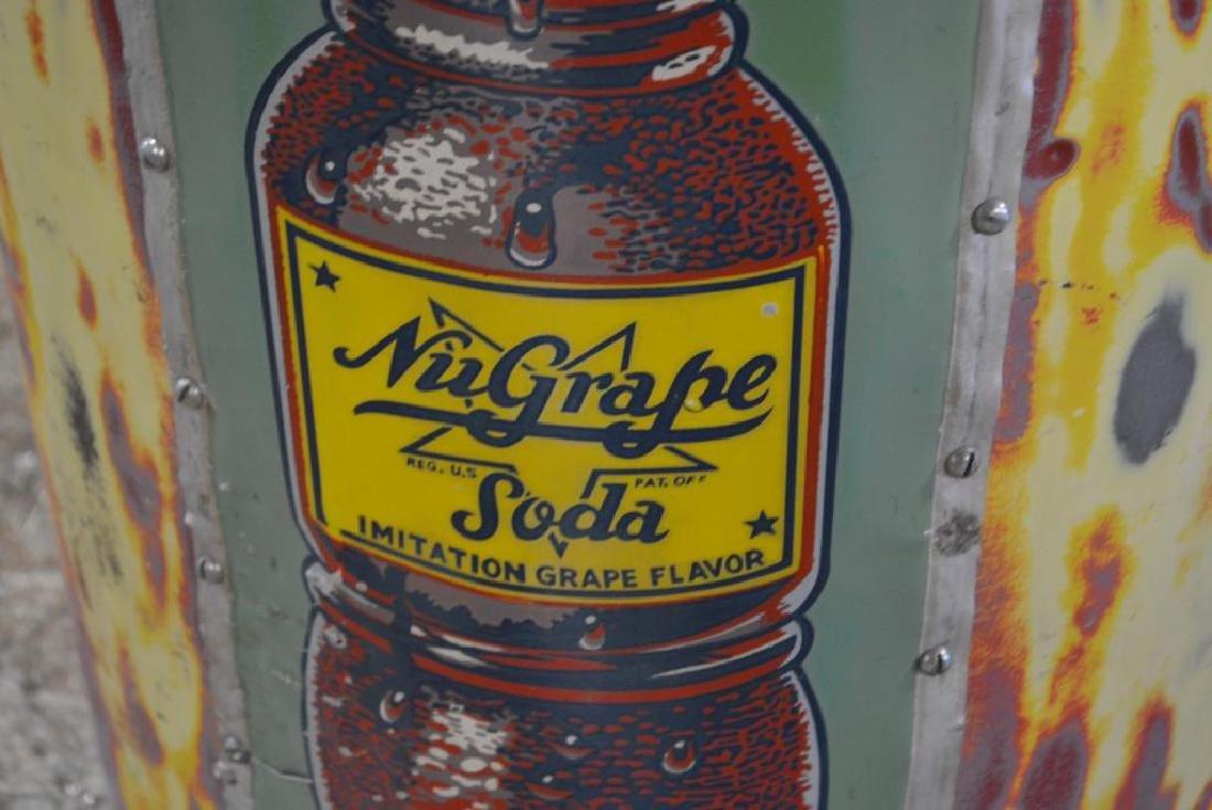 "Trash Can w/ Nu-Grape Advertising 32""H,   17"" diam. - 2"