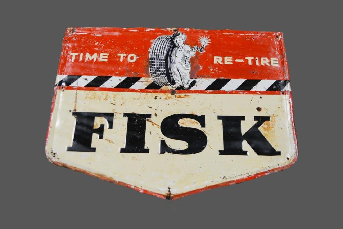 "Fisk Tire Sign    -   metal 41""  x   52"""