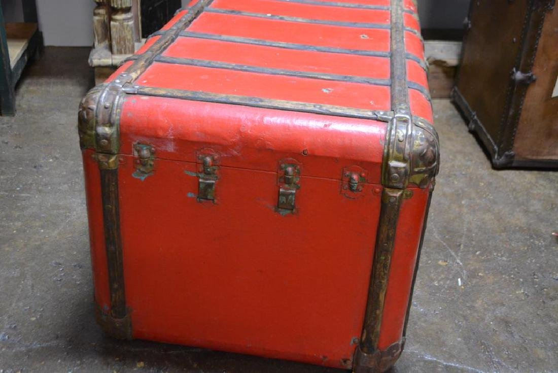 """Red Stagecoach Trunk 20""""H,   41 1/4""""  x   23 1/2"""" - 2"""