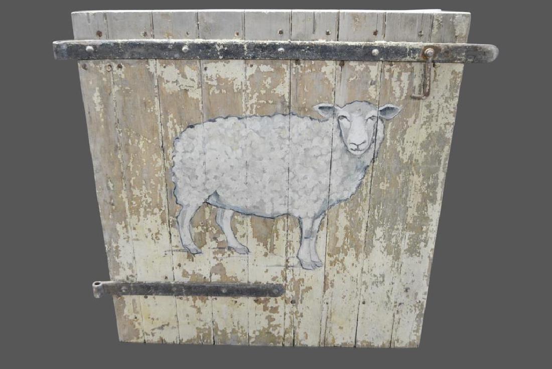 """Barn Door w/ Painted Sheep 49""""  x   50"""""""