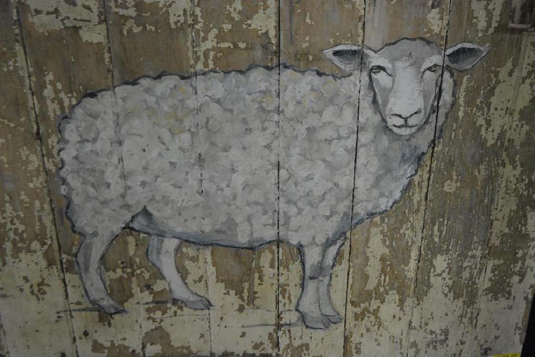 """Barn Door w/ Painted Sheep 49""""  x   50"""" - 2"""