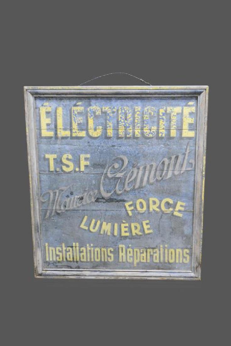 """Wooden French Trade Sign 41 1/2""""  x   38"""""""