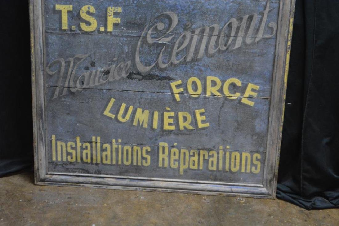 """Wooden French Trade Sign 41 1/2""""  x   38"""" - 2"""