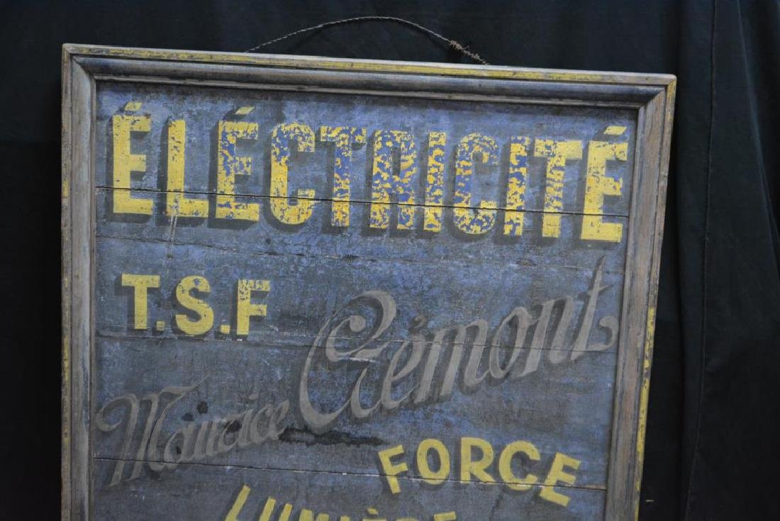 """Wooden French Trade Sign 41 1/2""""  x   38"""" - 3"""