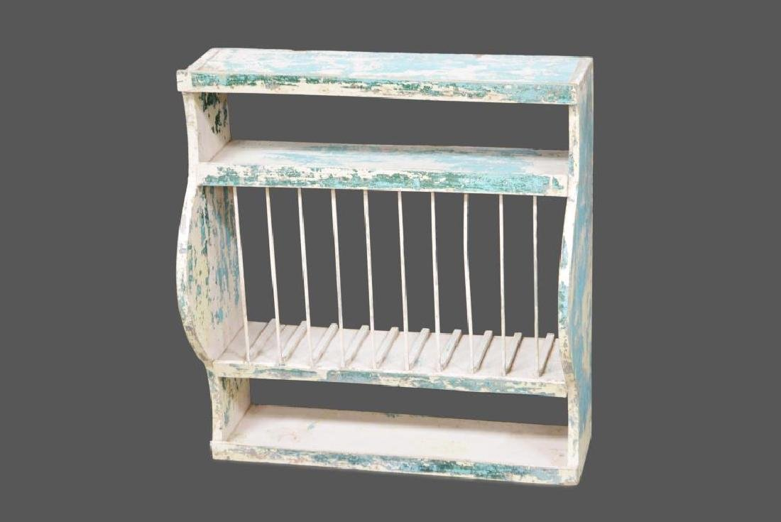 """Painted Plate Rack 29""""H,   27""""L    12""""W"""
