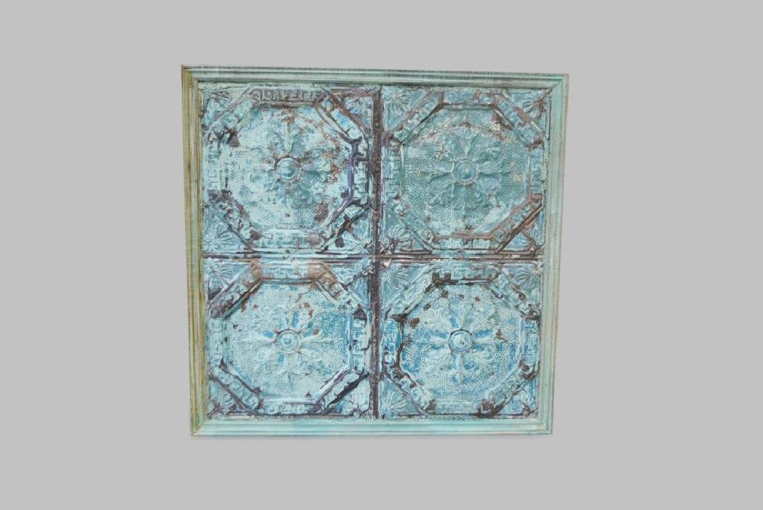 "Framed Painted Ceiling Tin 51""  x   51"""
