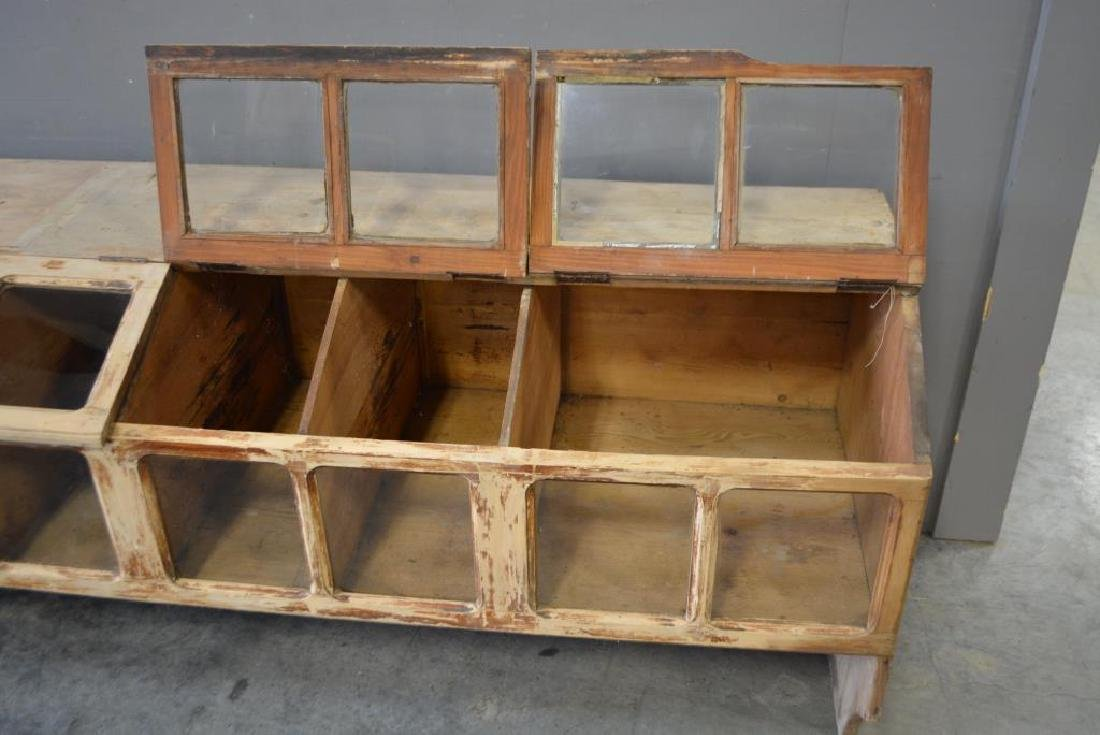 """General Store Seed Counter 32 1/2""""H,   112 1/4""""L, - 2"""