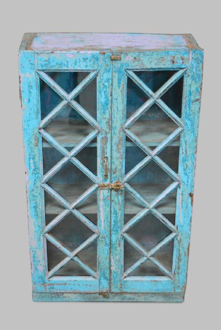 """Painted Cupboard 43""""H,   25""""  x   11"""""""