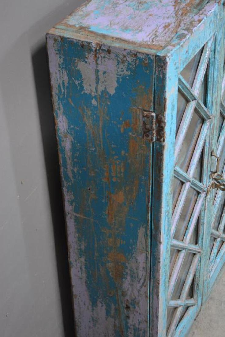 """Painted Cupboard 43""""H,   25""""  x   11"""" - 3"""