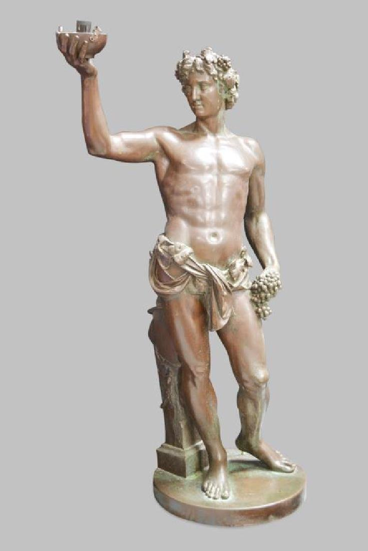 "Statue 48""H,   27""  x   16 1/2"""