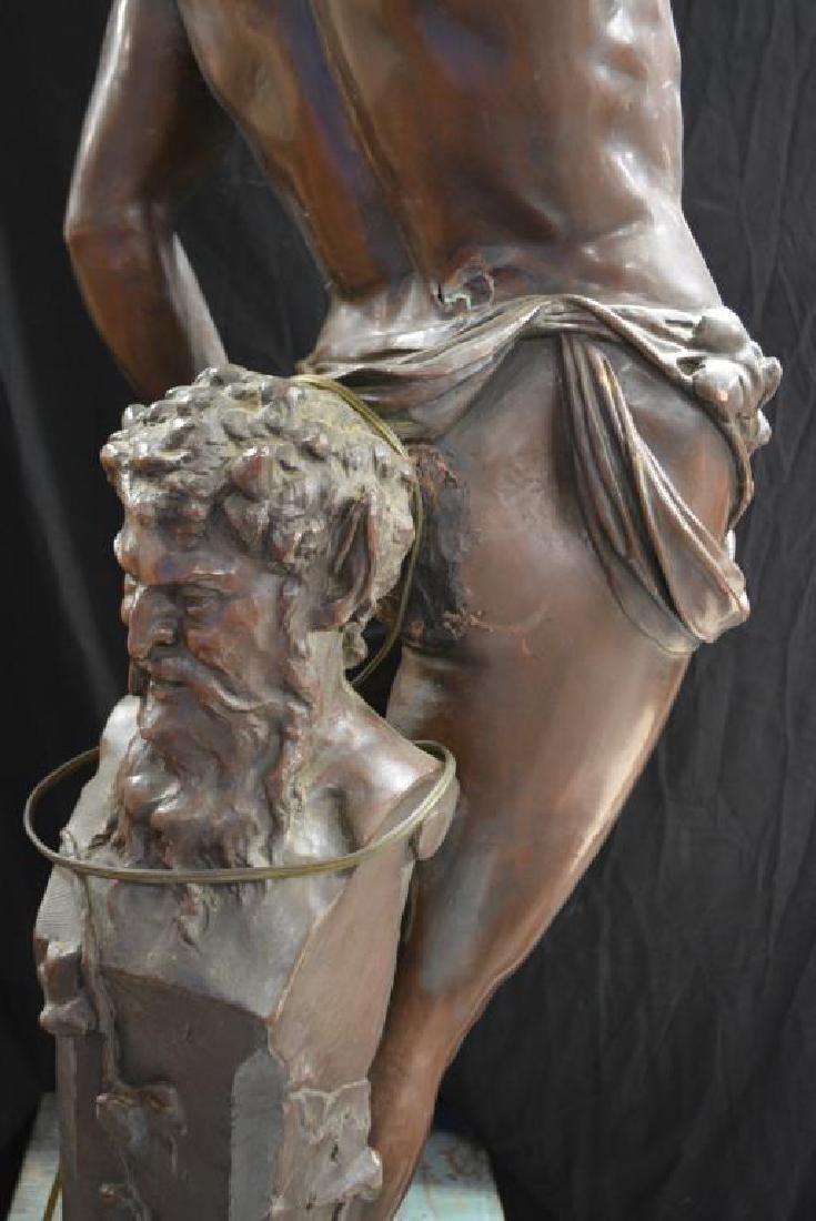 "Statue 48""H,   27""  x   16 1/2"" - 2"