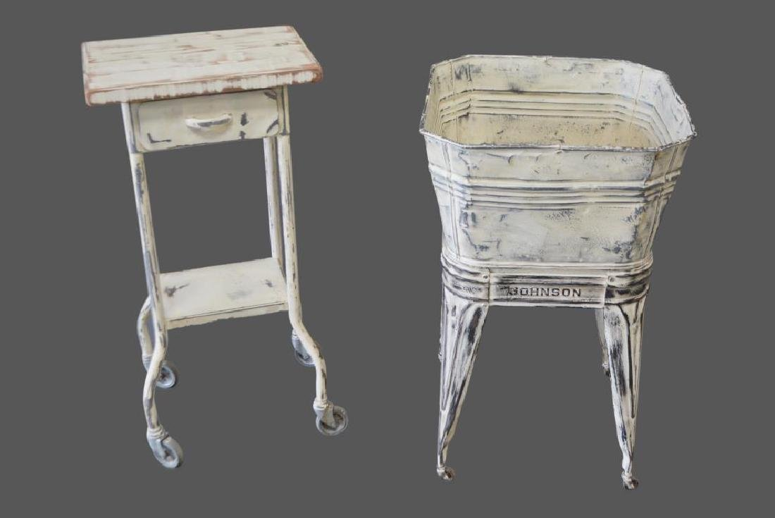 2pc. Painted Industrial Lot tub /