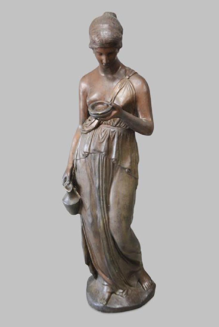 "Brass Statue 61 1/4""H,   23""  x   20"""