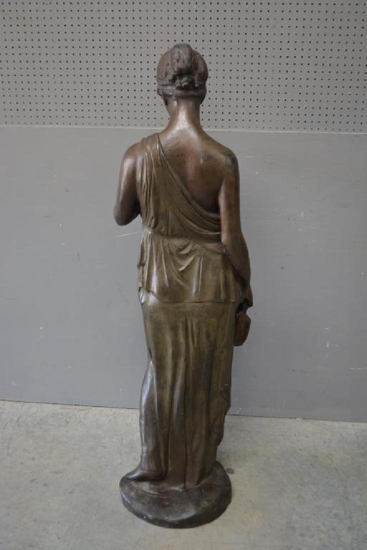 "Brass Statue 61 1/4""H,   23""  x   20"" - 2"