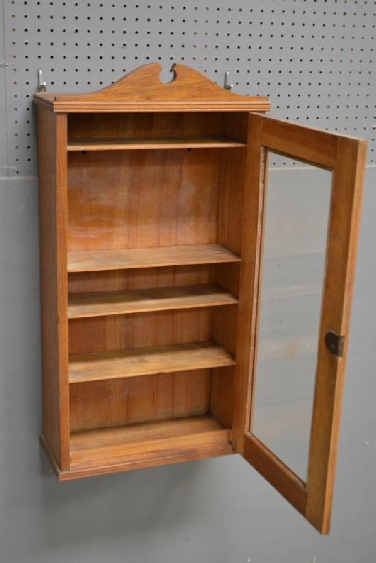 "Oak Medicine Cabinet 33""H,   17 1/4""   x   7  1/4"" - 4"