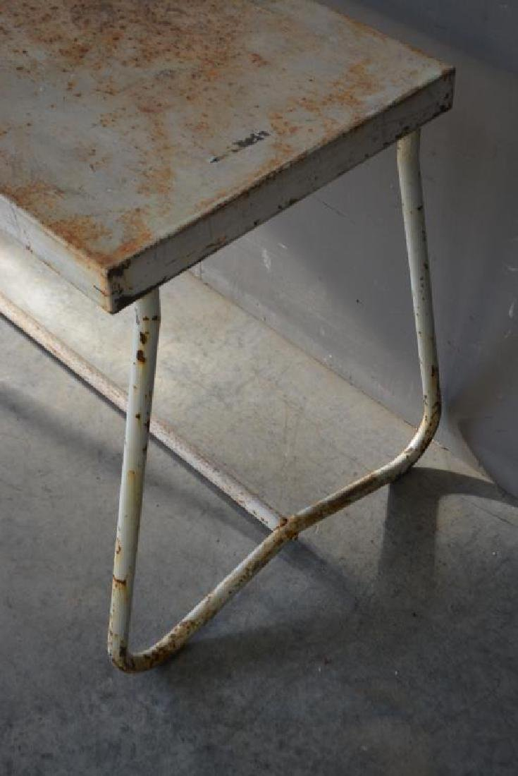 """French Metal Produce Table 29 3/4""""H,   81""""L, - 2"""