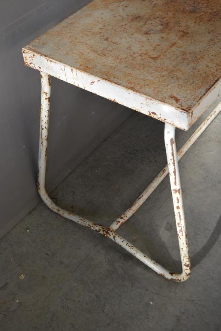 """French Metal Produce Table 29 3/4""""H,   81""""L, - 3"""