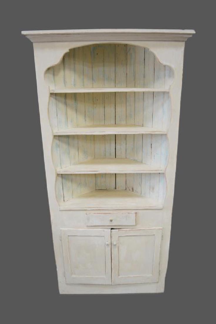 "Painted Corner Cupboard 78 1/2""H,   36""  x   16"""