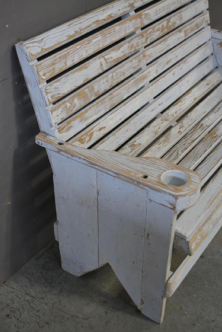"""Painted Bench 38 1/2""""H,   50 1/2""""L,   28 1/4""""W - 2"""