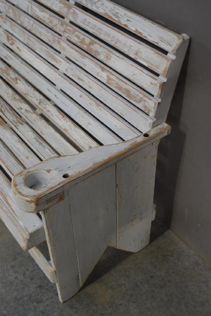 """Painted Bench 38 1/2""""H,   50 1/2""""L,   28 1/4""""W - 3"""