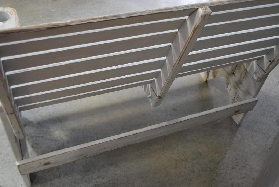 """Painted Bench 38 1/2""""H,   50 1/2""""L,   28 1/4""""W - 4"""