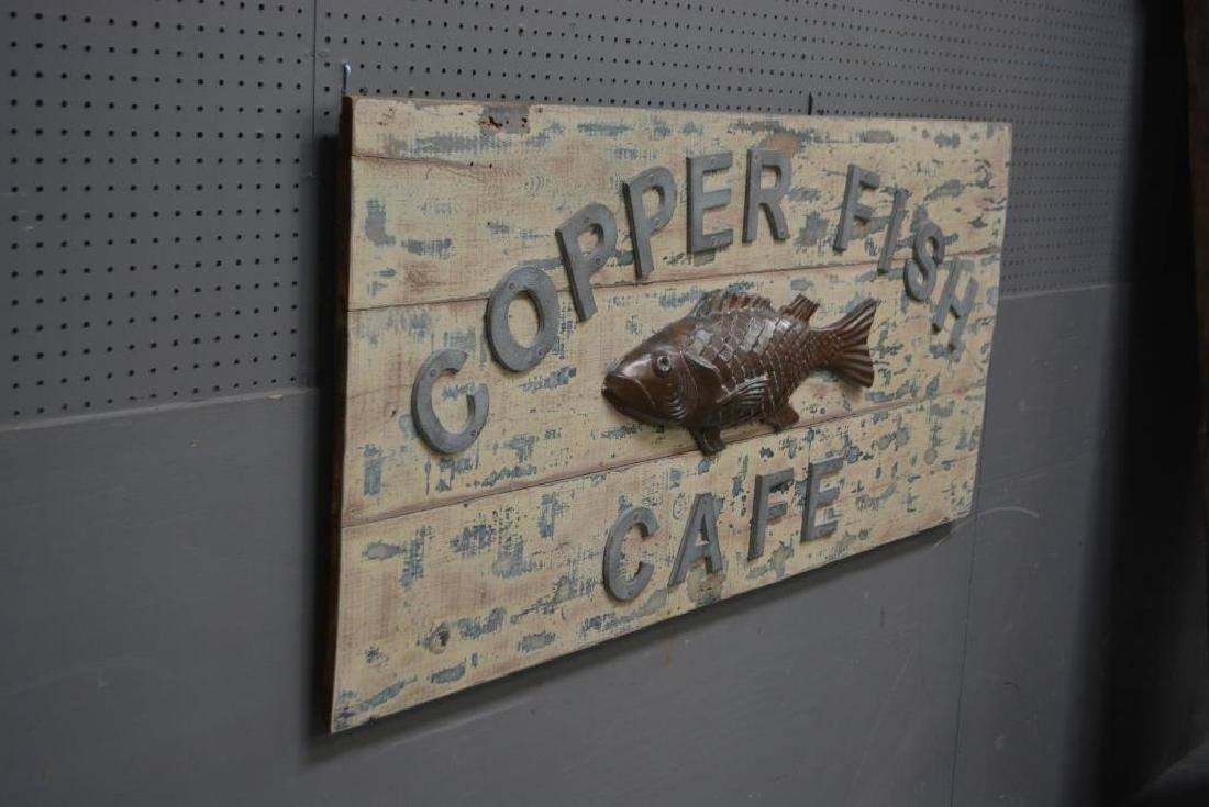 "Copper Fish Cafe Sign 27 1/4""  x   59 3/4"" - 2"
