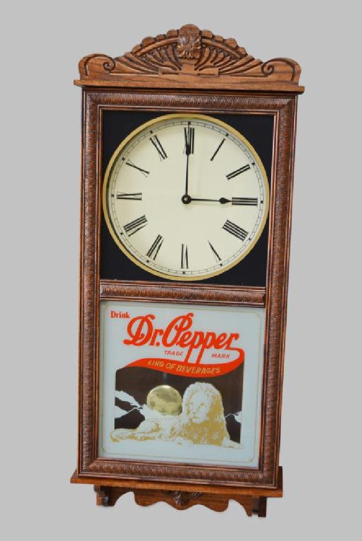 "Dr. Pepper Wall Clock 37""H,   16""  x   5 1/2"""