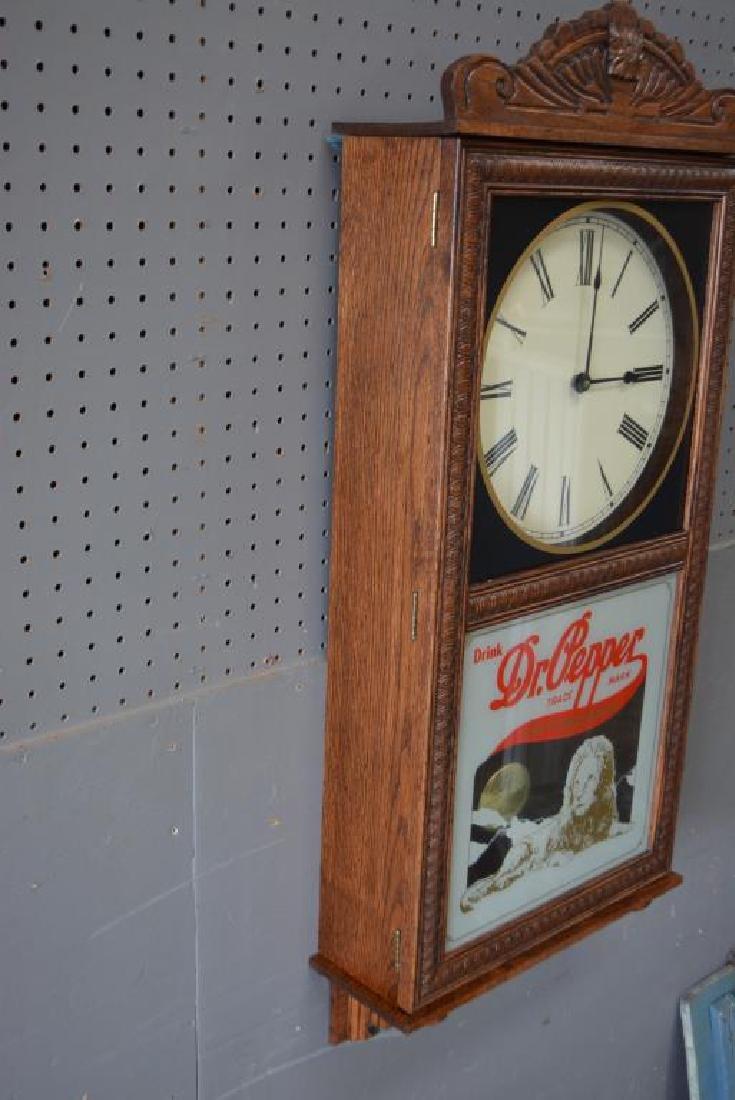 "Dr. Pepper Wall Clock 37""H,   16""  x   5 1/2"" - 2"